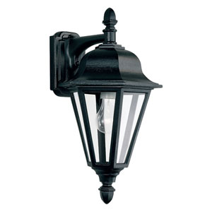 Willow Outdoor Down Black Wall Mount