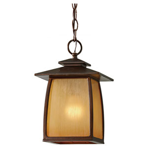 York Brown Outdoor Lantern Pendant