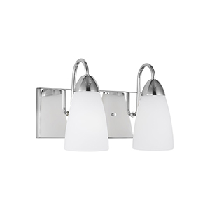 Nora Chrome Two-Light Wall Sconce