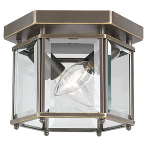 Oxford Bronze Two-Light Bound Glass Post Light Ceiling Light