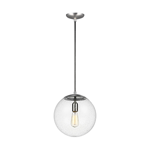 Cora Globe Satin Aluminium 12-Inch One-Light Pendant