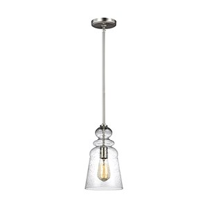 Isles Brushed Nickel Seven-Inch One-Light Mini Pendant