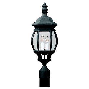 Charles Black Two-Light Outdoor Post Lantern