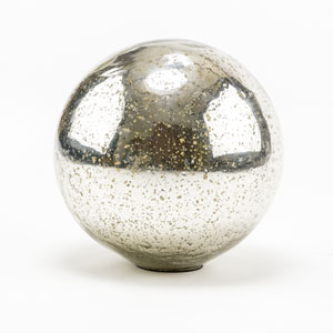 Loring Silver Glass Sphere