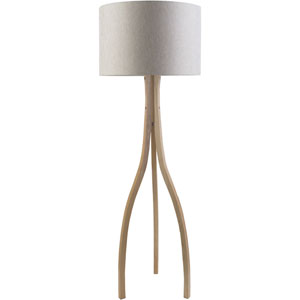 Nicollet Natural Wood Floor Lamp