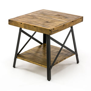 Fulton Reclaimed Wood End Table