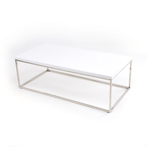 Loring White Lacquer Rectangular Coffee Table
