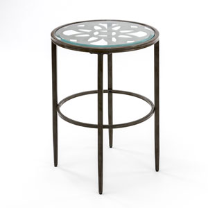 Linden Gray and Brown End Table