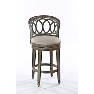 Whittier Antique Graywash Swivel Counter Stool