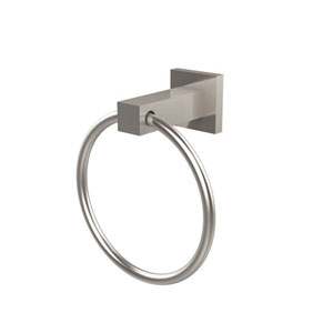Uptown Satin Nickel Towel Ring