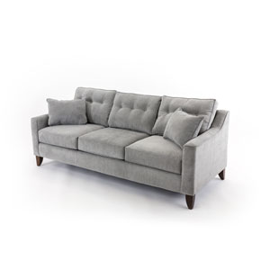 Loring Concrete Gray Sofa