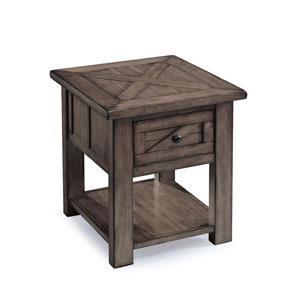 Afton Weathered Charcoal Rectangular End Table