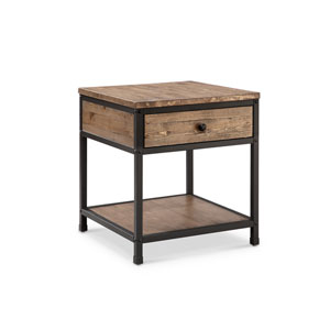 River Station Natural Square End Table