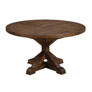 River Station Brown Dining Table