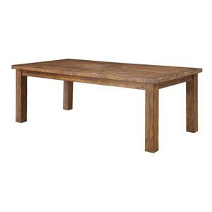 River Station Brown Dining Table w/Butterfly Leaf