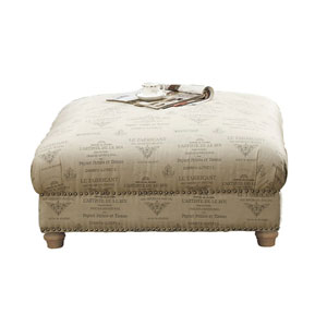 Selby Cocktail Ottoman Tolouse Platinum
