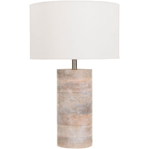 Afton Natural Mango Wood Table Lamp