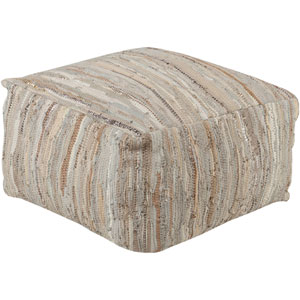 Afton Neutral Cube Pouf