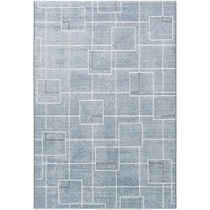 Loring Denim and Gray Rectangular: 2 Ft. x 3 Ft. Rug