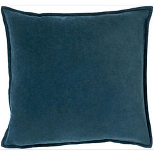 Loring Velvet Teal 18-Inch Pillow with Poly Fill