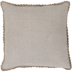 Quinn Taupe 18-Inch Pillow with Poly Fill