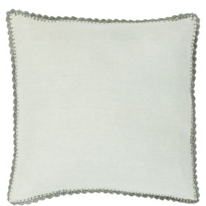 Quinn Sea Foam and Gray 18-Inch Pillow with Poly Fill