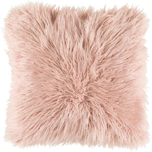 Linden Pink 18-Inch Pillow with Poly Fill