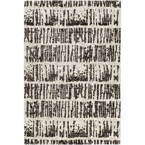 Fulton Gray and Black Rectangular: 5 Ft. x 7 Ft. 6-Inch Rug