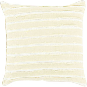 Quinn Olive and Ivory 18-Inch Pillow with Poly Fill