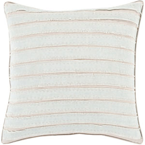 Quinn Slate and Taupe 18-Inch Pillow with Poly Fill