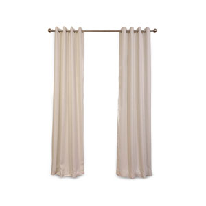 Uptown White 120 x 50-Inch Grommet Blackout Curtain Single Panel
