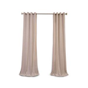 Nicollet Stone 108 x 50-Inch Grommet Curtain Single Panel