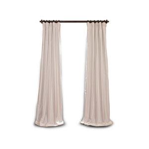 Whittier White 108 x 50-Inch Blackout Faux Silk Taffeta Curtain Single Panel