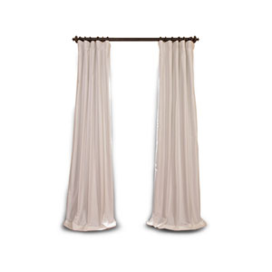 Whittier White 84 x 50-Inch Blackout Faux Silk Taffeta Curtain Single Panel