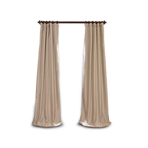 Whittier Beige 84 x 50-Inch Blackout Faux Silk Taffeta Curtain Single Panel