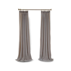 Afton Gray 108 x 50-Inch Faux Linen Sheer Single Panel Curtain Panel