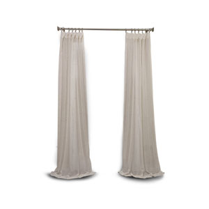 Afton Cream 96 x 50-Inch Linen Sheer Curtain Panel