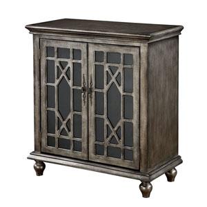 Linden Textured Metallic Two Door Cabinet