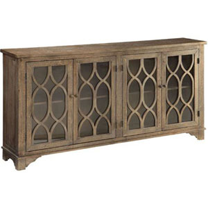 Whittier Birch and Fir Four Door Media Credenza