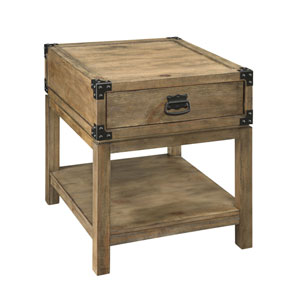 River Station Carmel Burnished Natural Trunk End Table