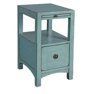Hayden Textured Blue Side Table