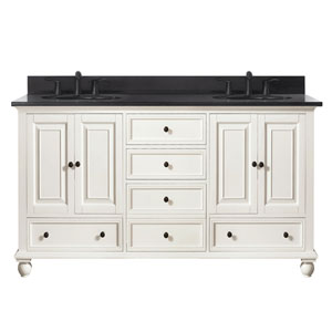 Grace French White 61-Inch Vanity Combo