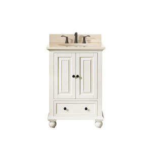 Grace French White 25-Inch Vanity Combo