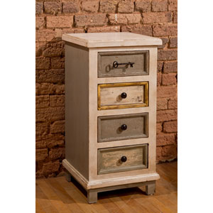 Quinn Dove Gray Four Drawer Cabinet