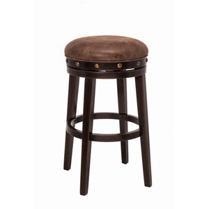 Afton Deep Smoke Brown Backless Bar Stool