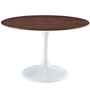 Nicollet 48-Inch Walnut Dining Table in White