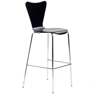 Uptown Bar Stool in Black