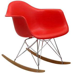 Uptown Rocking Chair in Red