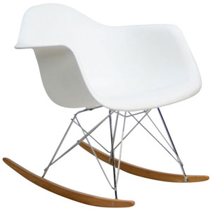 Uptown Rocking Chair in White