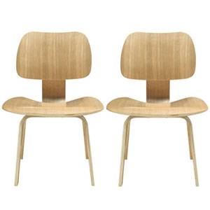 Nicollet Dining Chairs in Natural, Set of Two